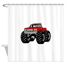 Red MONSTER Truck Shower Curtain