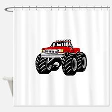 Red MONSTER Truck Shower Curtain