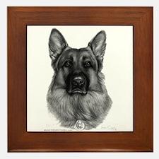 Rikko, German Shepherd Framed Tile