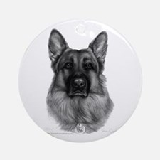 Rikko, German Shepherd Ornament (Round)