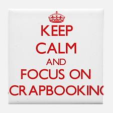 Cute Scrapbooking keep calm Tile Coaster