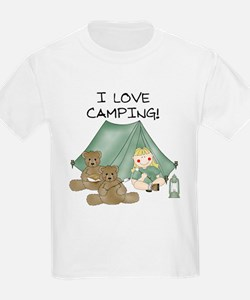 I Love Camping (Girl) Kids T-Shirt