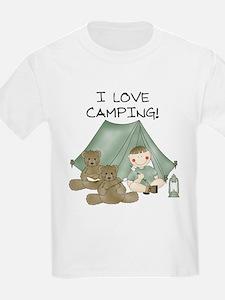 I Love Camping (Boy) Kids T-Shirt