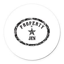 Cute Jen Round Car Magnet