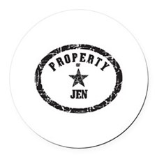 Cute Property Round Car Magnet