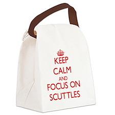 Cute Scuttle Canvas Lunch Bag
