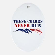 Colors Never Run Oval Ornament