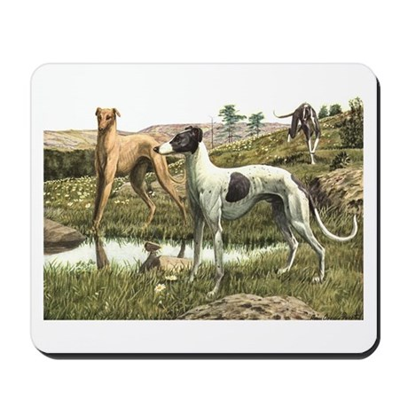 Greyhound Art Mousepad