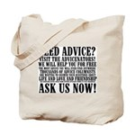 Ask Us Now! Tote Bag