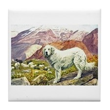 Great Pyrenees Art Tile Coaster
