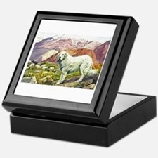 Great Pyrenees Art Keepsake Box