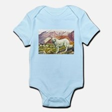Great Pyrenees Art Infant Bodysuit