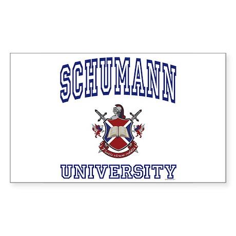 SCHUMANN University Rectangle Sticker