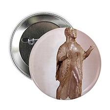 """490 BC. Etruscan artefact statuette.  2.25"""" Button"""