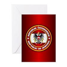 Austria Emblem Greeting Cards