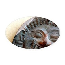 Terracotta antefix tarantini that  Oval Car Magnet