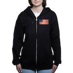 Vintage USA Flag Women's Zip Hoodie