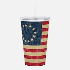 Vintage Betsy Ross Flag Acrylic Double-wall Tumble