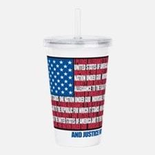 Pledge of Allegiance Acrylic Double-wall Tumbler