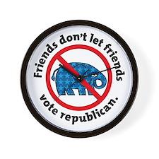 DON'T VOTE REPUBLICAN Wall Clock