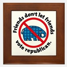 DON'T VOTE REPUBLICAN Framed Tile