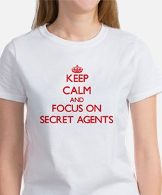 Keep Calm and focus on Secret Agents T-Shirt