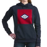 Arkansas Flag Women's Hooded Sweatshirt