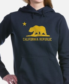 Vintage California Republic Women's Hooded Sweatsh