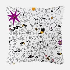 Inspired by Miro Woven Throw Pillow