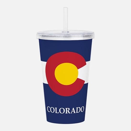 Colorado Flag Acrylic Double-wall Tumbler