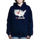 I Love Colorado Women's Hooded Sweatshirt