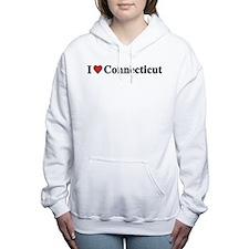 I Love Connecticut Women's Hooded Sweatshirt