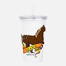 Idaho Horse Acrylic Double-wall Tumbler