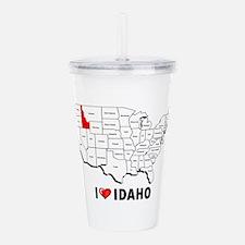 I Love Idaho Acrylic Double-wall Tumbler
