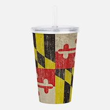 Vintage Maryland Flag Acrylic Double-wall Tumbler