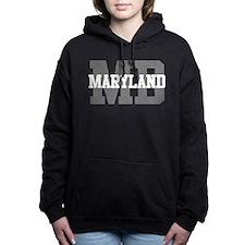 MD Maryland Women's Hooded Sweatshirt