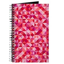Red & Pink Triangles Journal