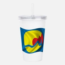 Wavy Grand Rapids Flag Acrylic Double-wall Tumbler