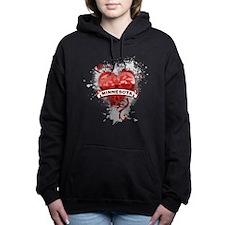 Heart Minnesota Women's Hooded Sweatshirt