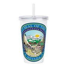 Nevada State Seal Acrylic Double-wall Tumbler
