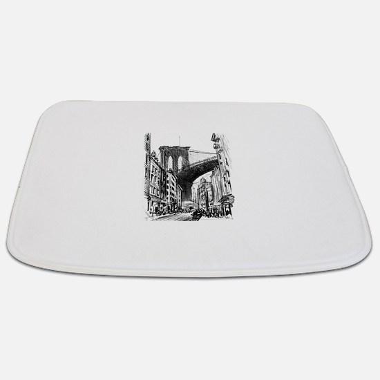 Unique Brooklyn bridge Bathmat