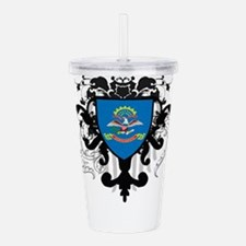 Stylish North Dakota Acrylic Double-wall Tumbler