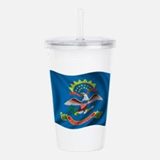 Wavy North Dakota Acrylic Double-wall Tumbler