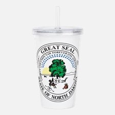 North Dakota Seal Acrylic Double-wall Tumbler