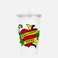 North Dakota Rocks! Acrylic Double-wall Tumbler