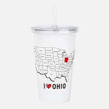 I Love Ohio Acrylic Double-wall Tumbler