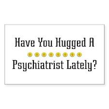 Hugged Psychiatrist Rectangle Bumper Stickers