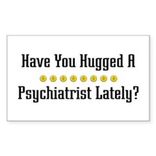 Hugged Psychiatrist Rectangle Decal