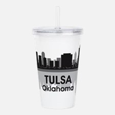 Tulsa Skyline Acrylic Double-wall Tumbler