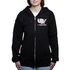 I Love Pennsylvania Women's Zip Hoodie